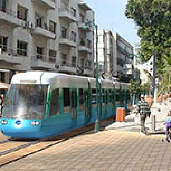 הדמיה של הרכבת הקלה בתל אביב