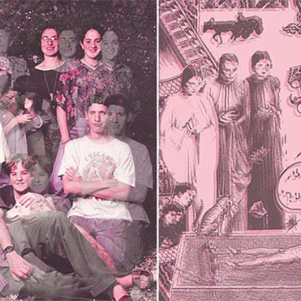 משמאל: משפחת גבע ועבודה של דודו גבע