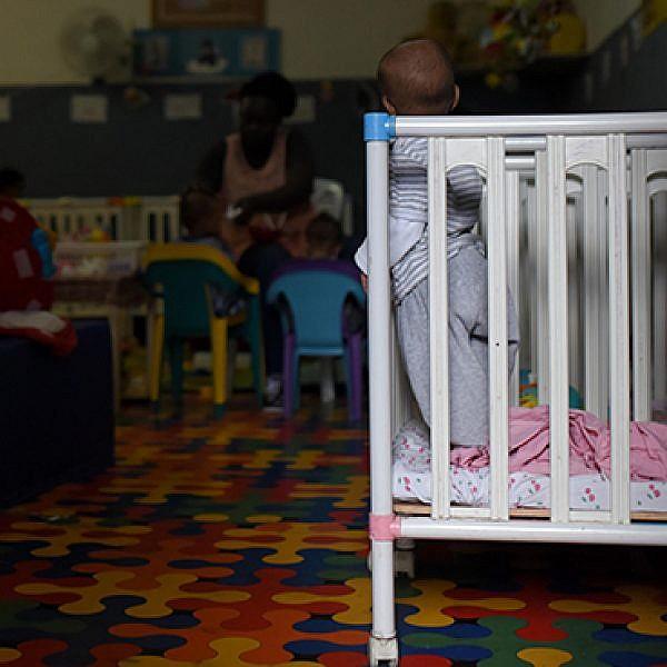 גן ילדי מבקשי מקלט ברחוב לבנדה. (צילום: בן קלמר)