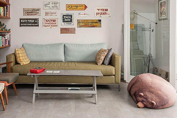 הדירה של מיקי מוטס וזיו מלצר. צילום: איליה מלניקוב