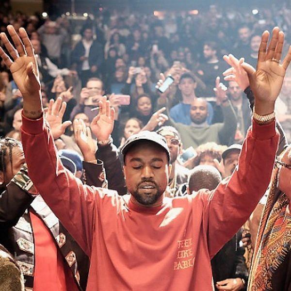 דתי-לאומי. קניה ווסט מהלל. צילום: GettyImages