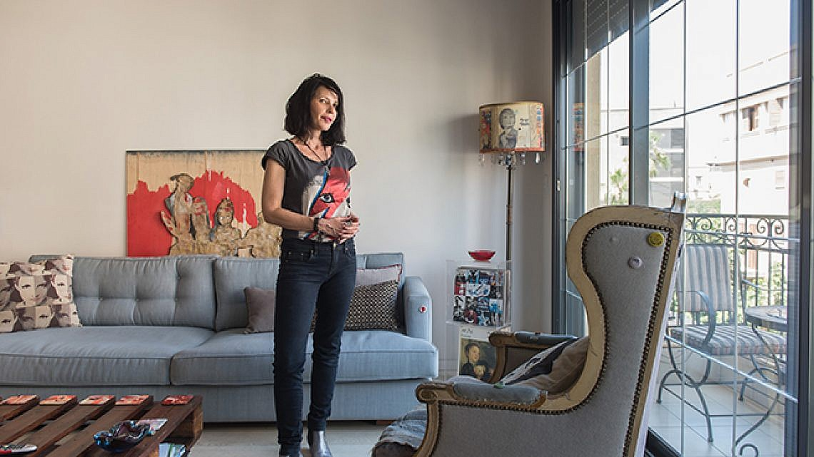 הדירה של מיה ברניצקי. צילום: נמרוד סונדרס