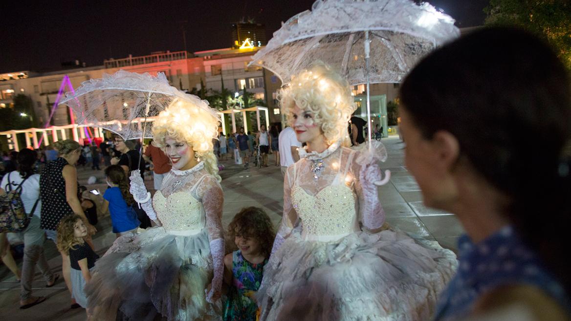 לילה לבן בכיכר הבימה. צילום: אורן זיו