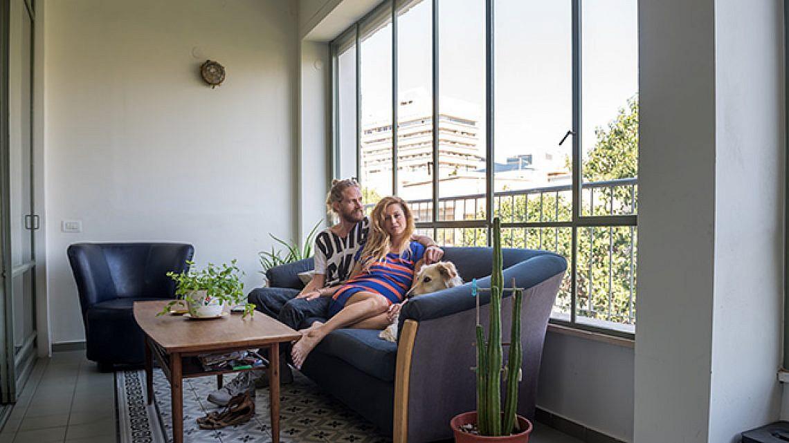 הדירה של אלה דורון ומעיין פוגל. צילום: נמרוד סונדרס