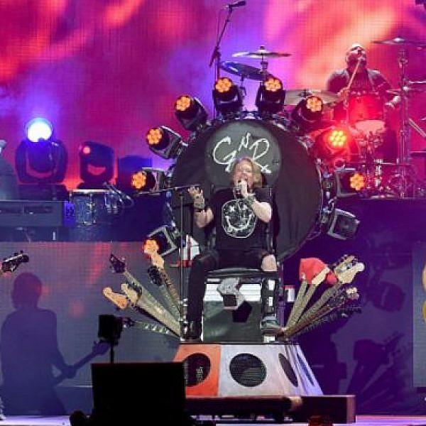 גאנס אנד רוזס בהופעת האיחוד בפסטיבל קוצ'לה. צילום: Gettyimages