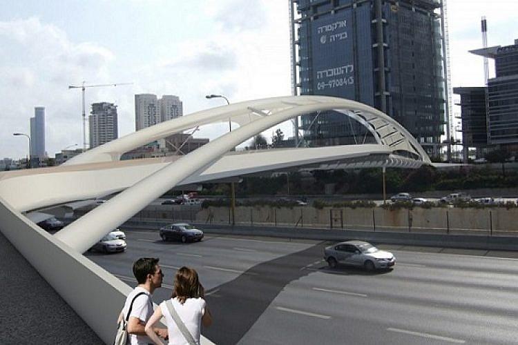 גשר יהודית (הדמייה: חן אדריכלים)