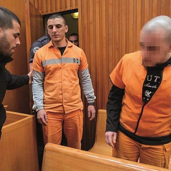 הנאשמים ברצח אריק קרפ בבית משפט (צילום: פלאש 90)