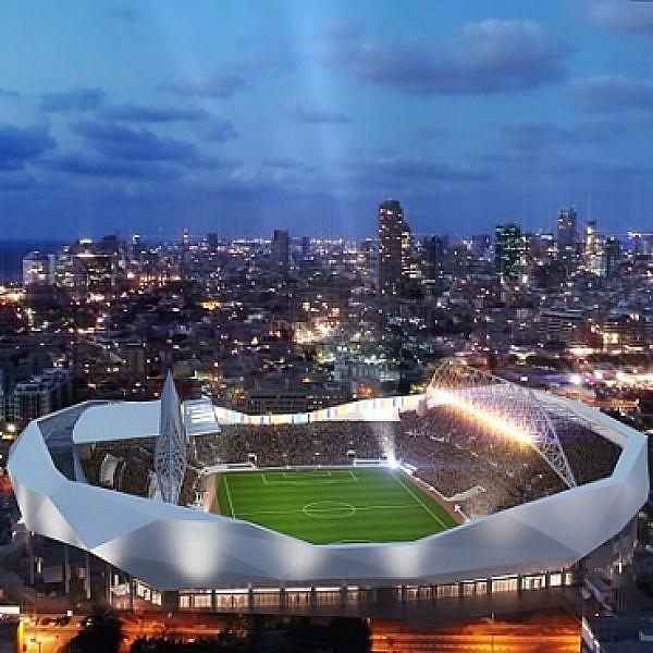 איצטדיון בלומפילד המחודש (באדיבות עיריית תל אביב-יפו)
