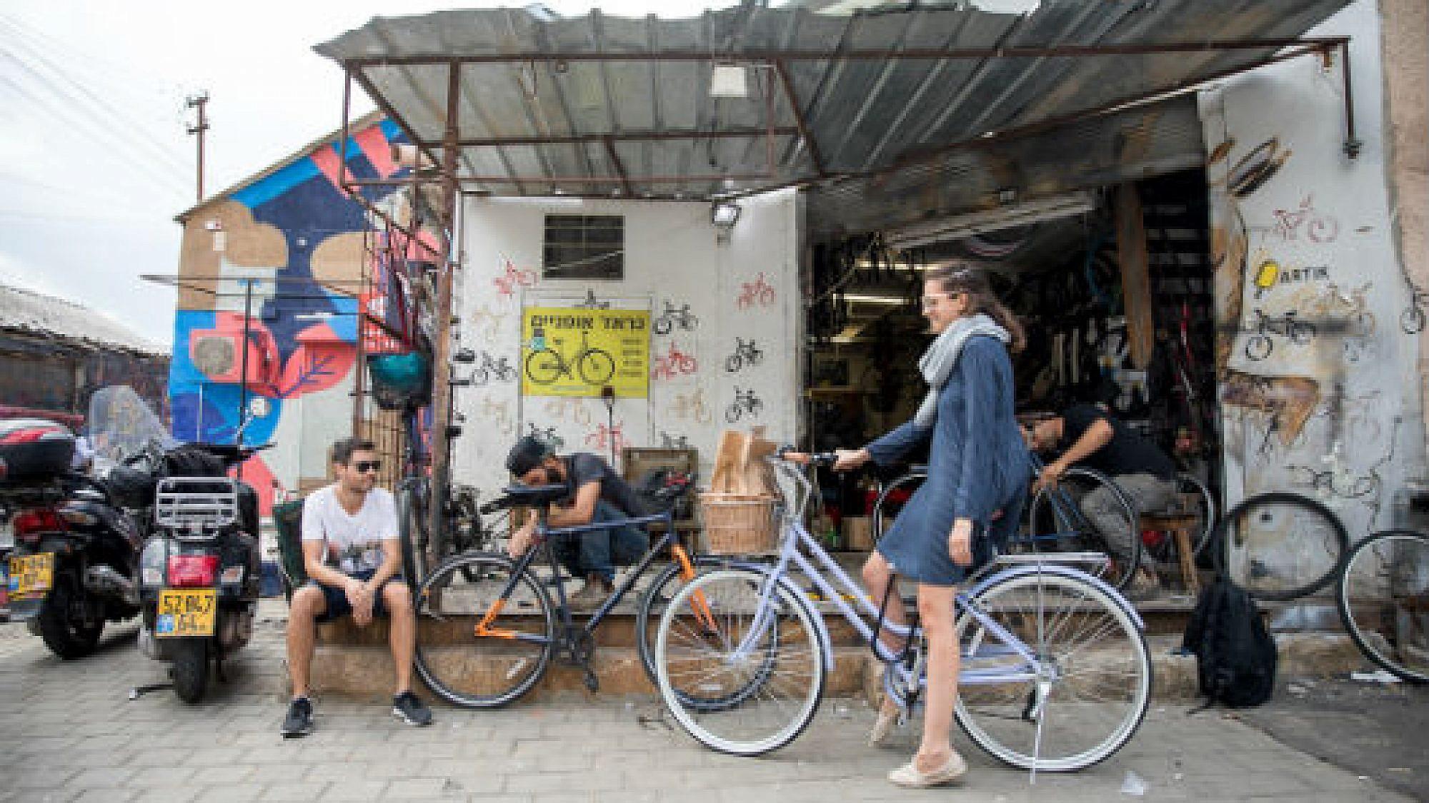גראז' אופניים, פלורנטין. צילום: דין אהרוני רולנד