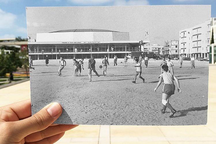 """כיכר הבימה (צילום מקור: משה מילנר, לע""""מ)"""