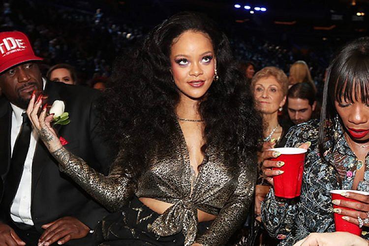 ריהאנה בטקס הגראמי 2018. צילום: גטי אימג'ס