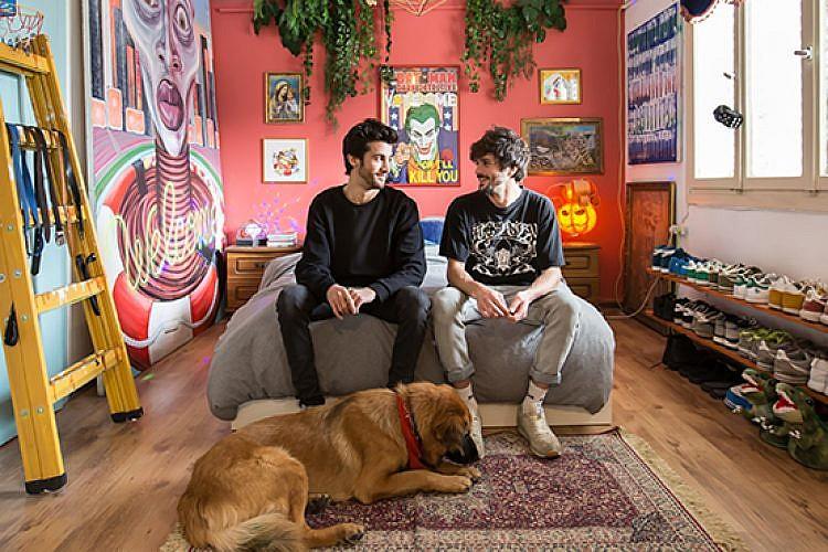 בדירה של אביב גרינברג וניב ניסים. צילום: הילה עידו