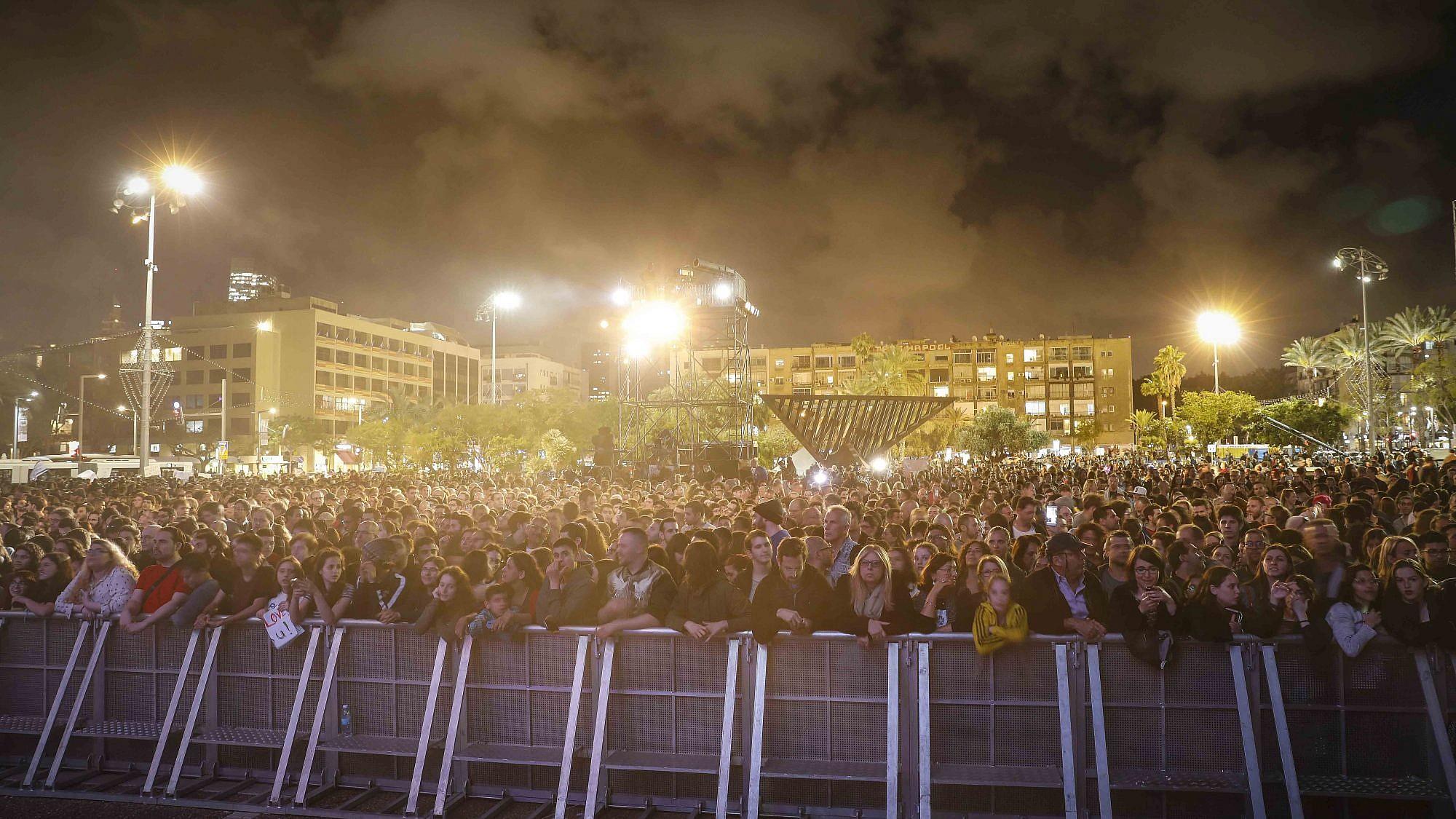 Israel Calling בכיכר רבין (צילום: גיא יחיאלי)