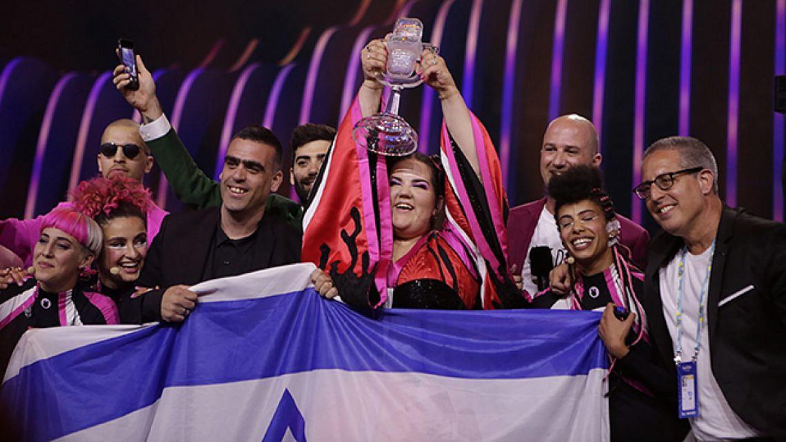 נטע ברזילי באירוויזיון 2018 (צילום: אנדרס פוטינג)