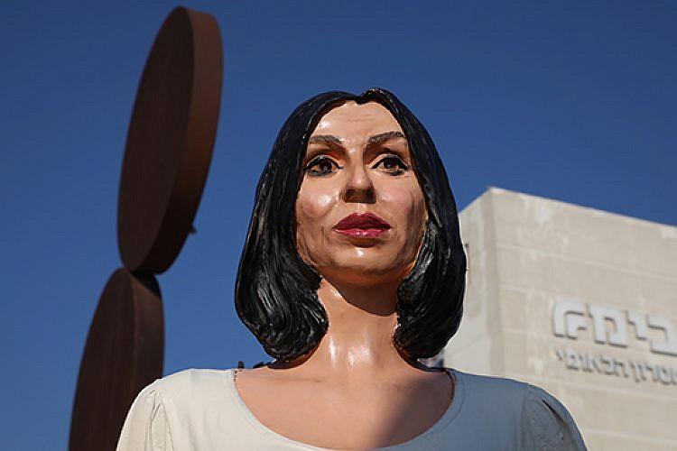 """הפסל """"בלב האומה"""" של איתי זלאייט. צילום: אורן זיו"""