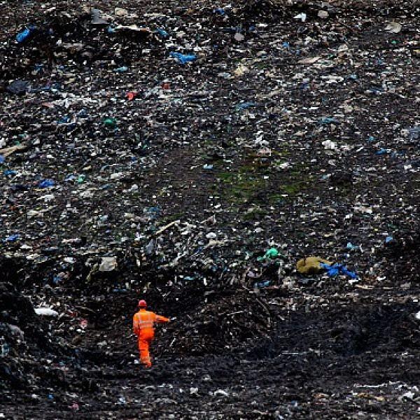 אתר פינוי פסולת בגלזגו, סקוטלנד. צילום: Getty images