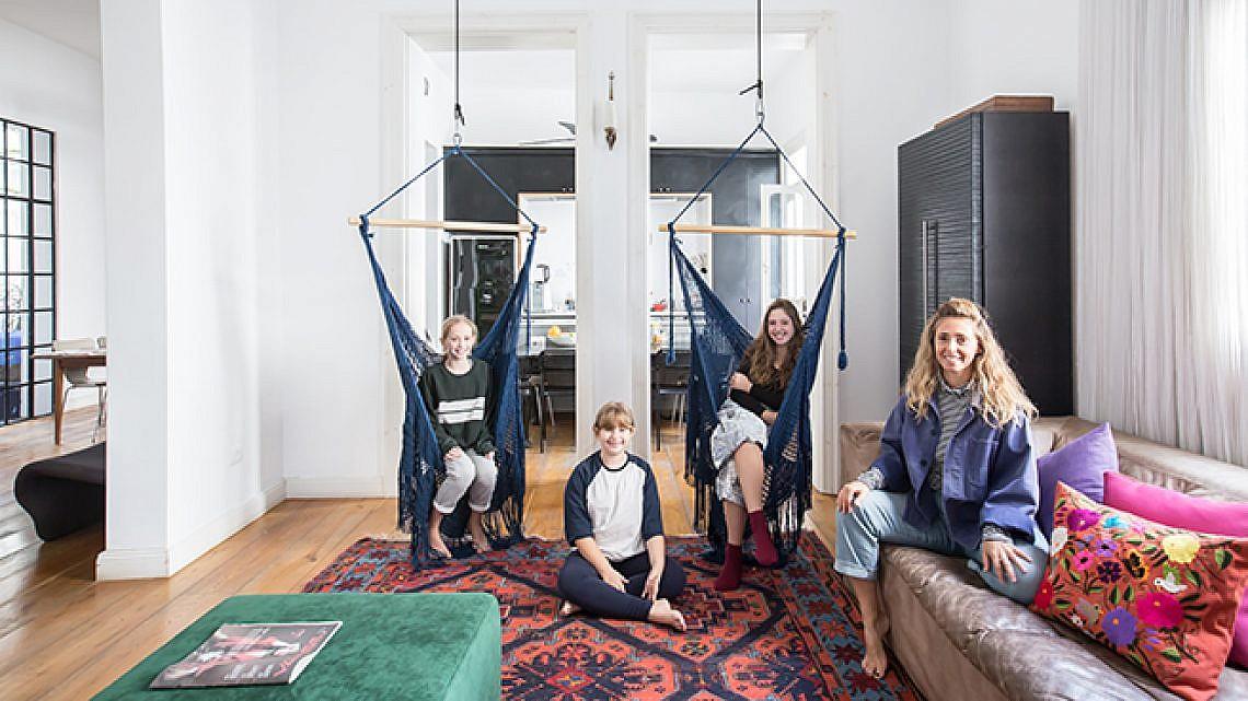בדירה של משפחת גורן. צילום: הילה עידו