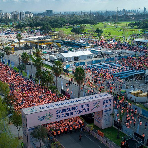 כך זה נראה בשנה שעברה. מרתון תל אביב 2019 (צילום: דני שכטמן)