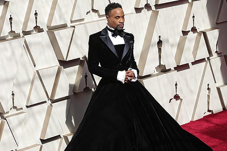 בילי פורטר ושמלת הטוקסידו. צילום: GettyImages