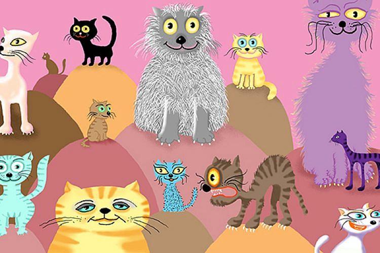 """כריכת """"חתול גדול חתול קטן"""" מאת אמי רובינגר"""