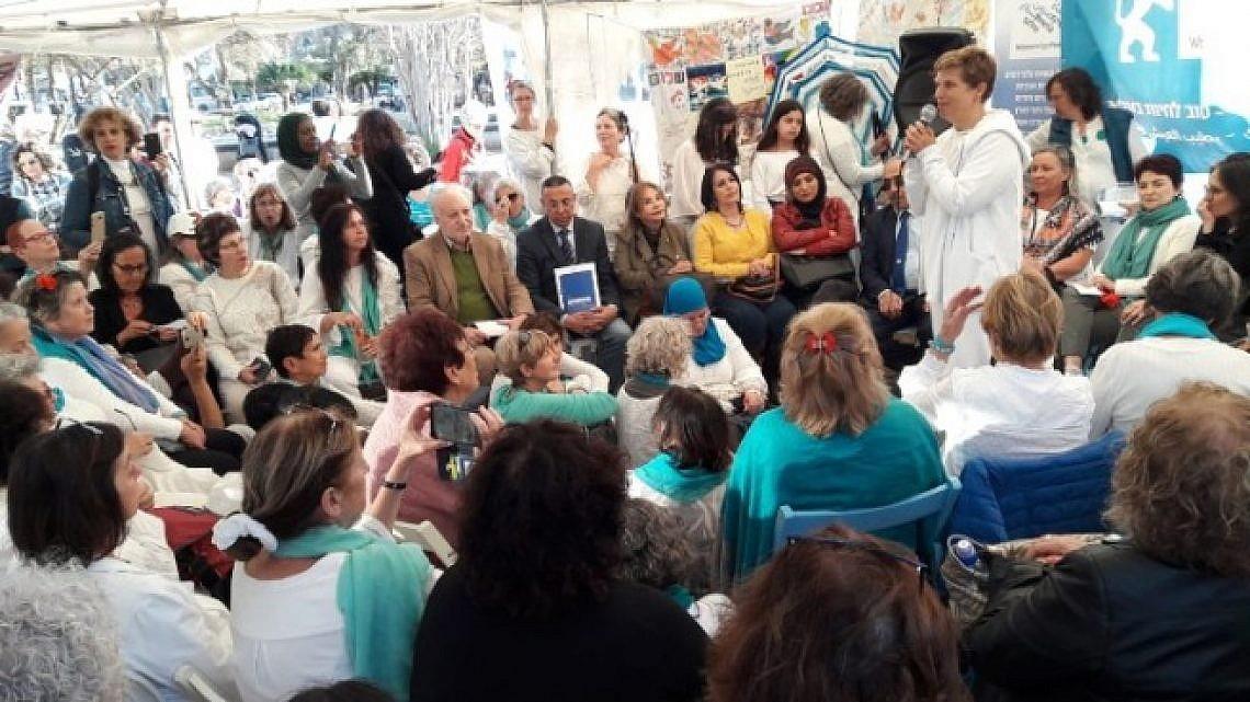 אוהל האימהות בכיכר רבין (צילום באדיבות נשים עושות שלום)
