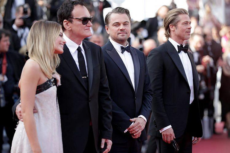 """צוות """"היו זמנים בהוליווד"""" בקאן. צילום: GettyImages/Andreas Rentz"""