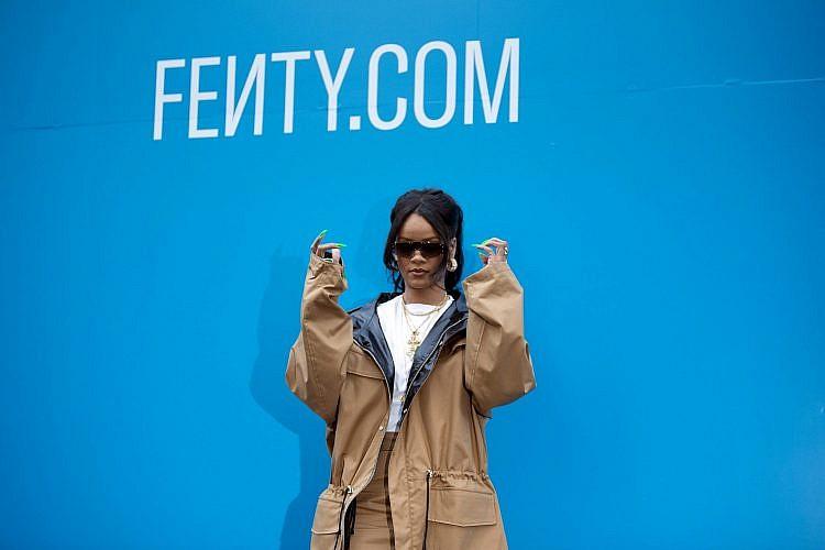 ריהאנה בהשקת מותג האופנה של FENTY. צילום:  Aurelien Meunier/Getty Images For Fenty