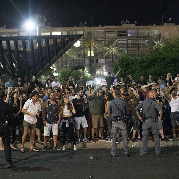 הפגנת סצנת הטראנס בכיכר רבין. צילום: אורן זיו