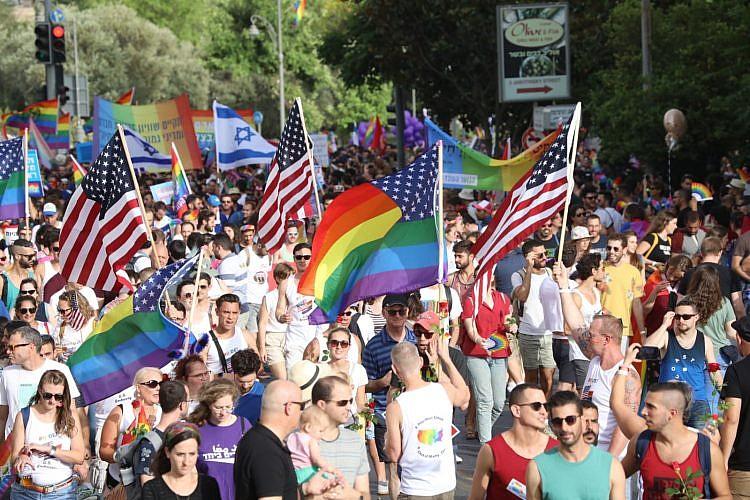 מצעד הגאווה בירושלים. צילום: אורן זיו
