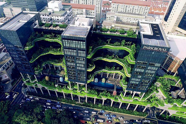 מלון פארק רויאל בסינגפור (צילום: Skyshot Pte)