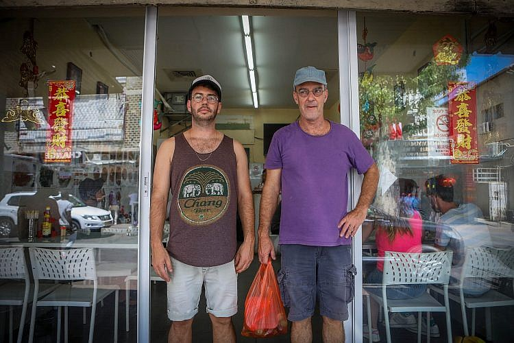 רעבים ומוכנים. ירמי שיק בלום ודודי שיק (צילום: שלומי יוסף)