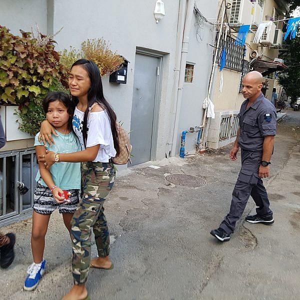 מעצר משפחת ולאסקו בתל אביב (צילום: United Children of Israel)