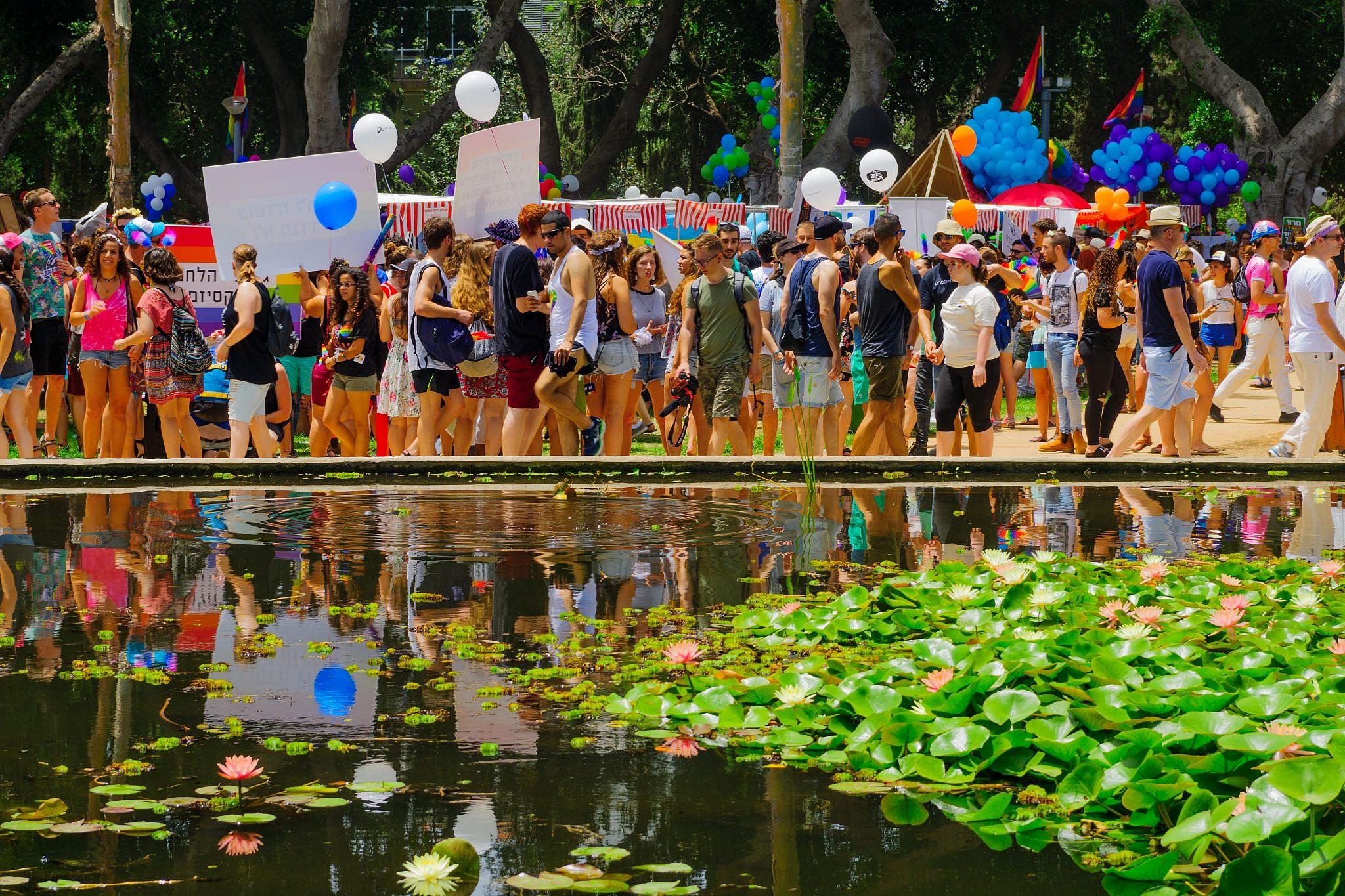 מצעד הגאווה בגן מאיר (צילום: Shutterstock)