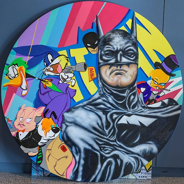 העבודות שיוצגו בתערוכת 80 שנים לבאטמן