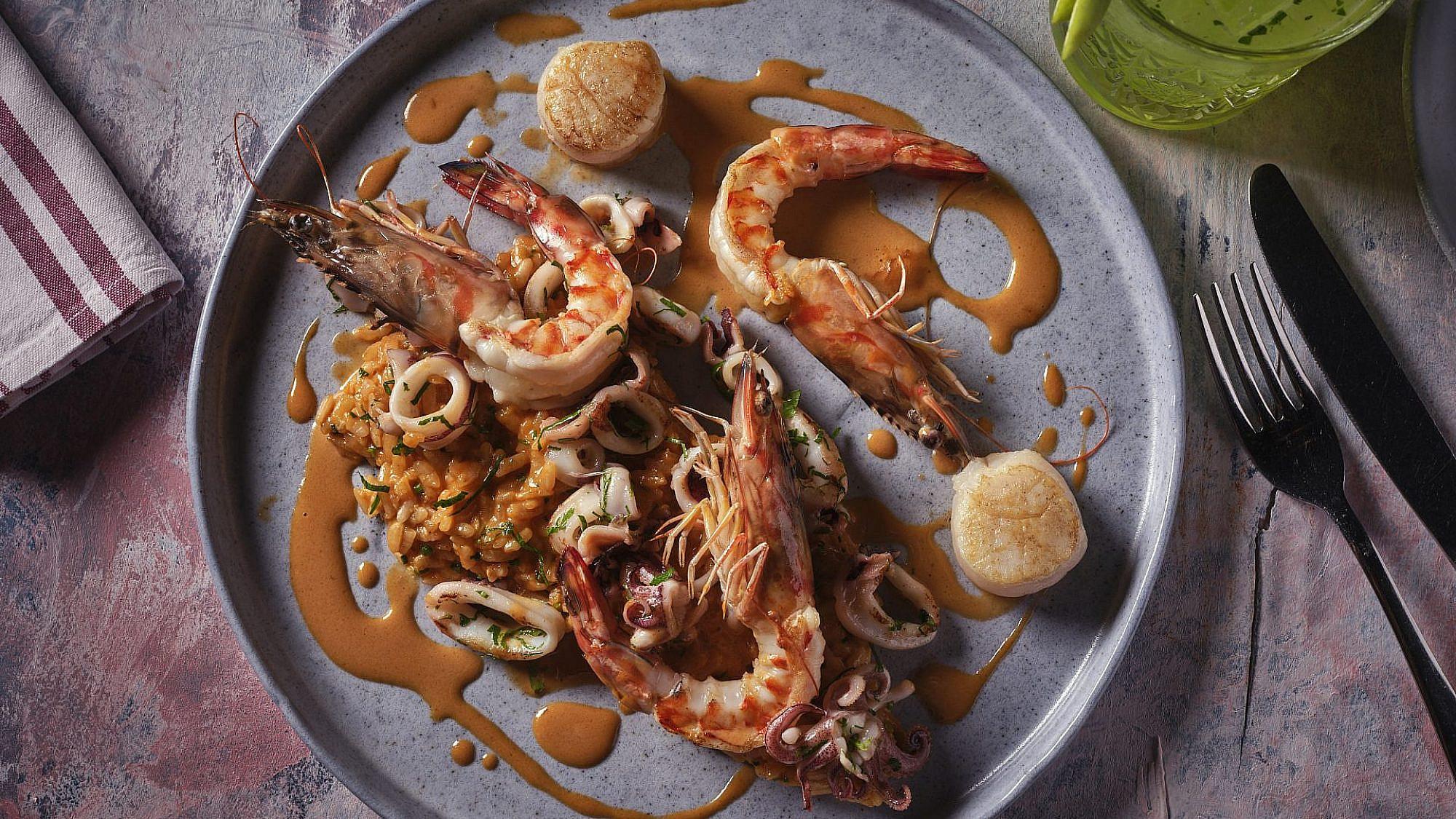 ריזוטו פירות ים. פאסטל (צילום: אנטולי מיכאלו)