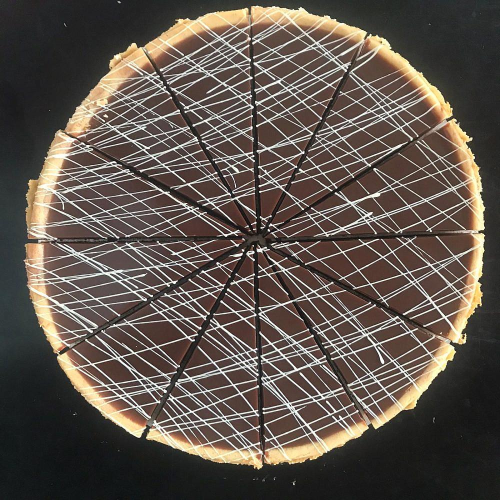 עוגת גבינה-נוטלה של מגזינו (צילום: ברק כהן)