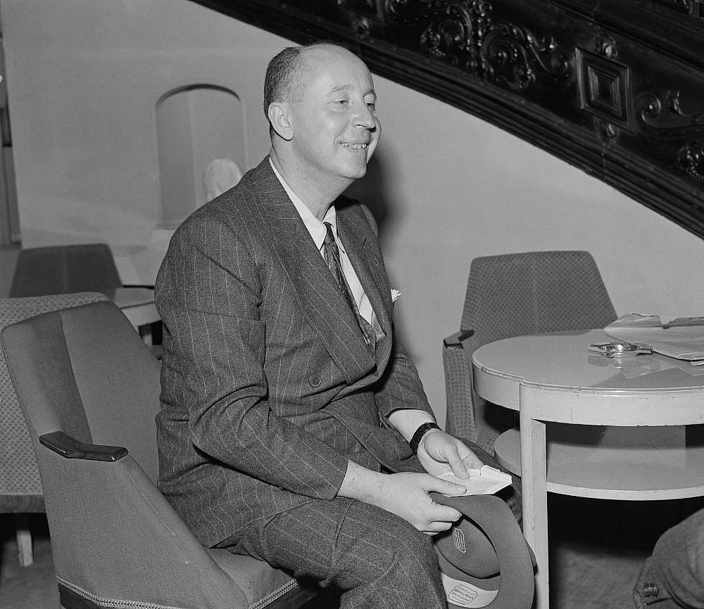 כריסטיאן דיור, 1947 (צילום: סטנלי שרמן/דיילי אקספרס/Hulton Archive/גטי אימג'ס)