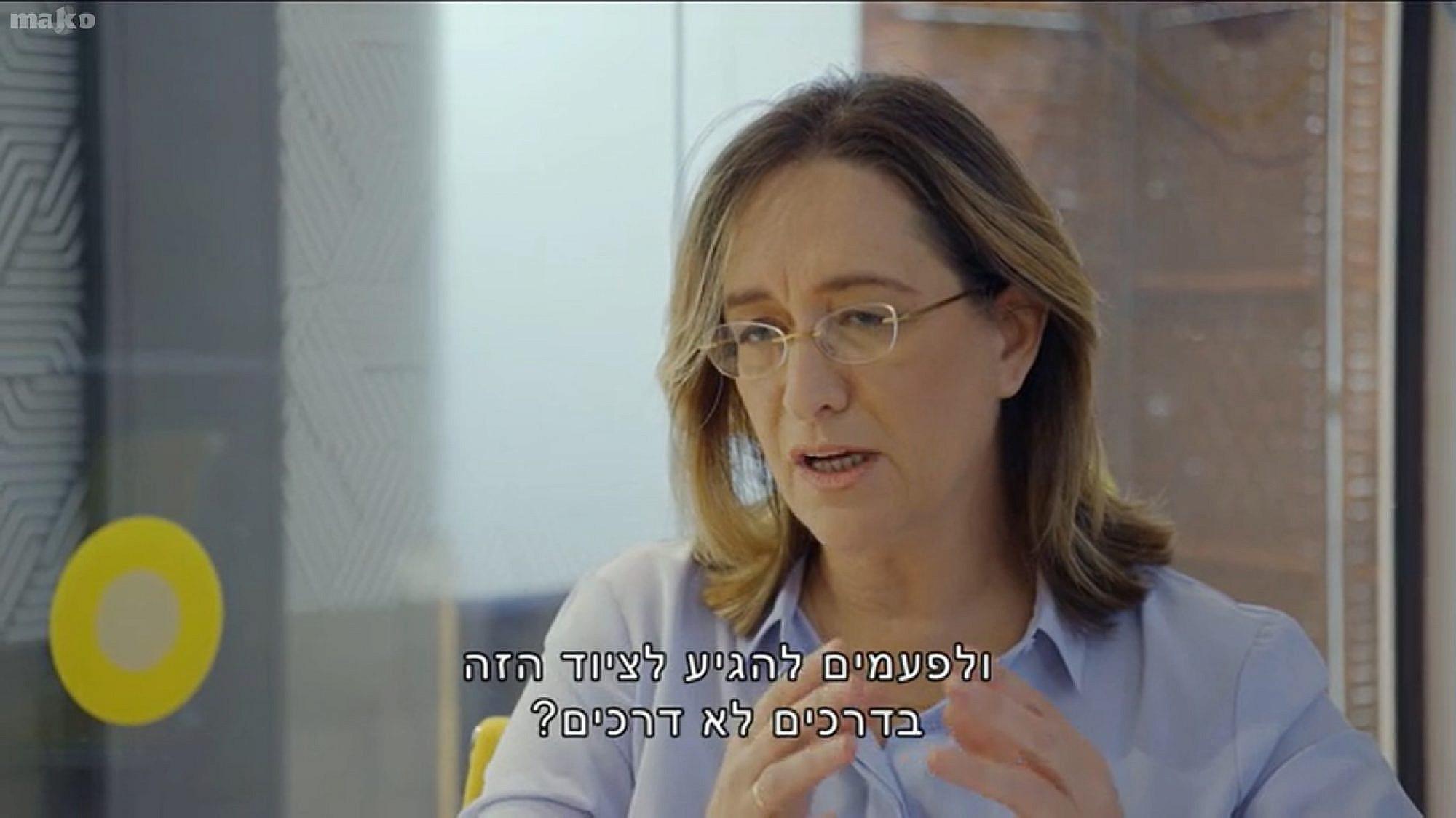 """ועדת החקירה של קשת 12 כבר הכריעה. אילנה דיין ב""""עובדה"""" (צילום מסך)"""
