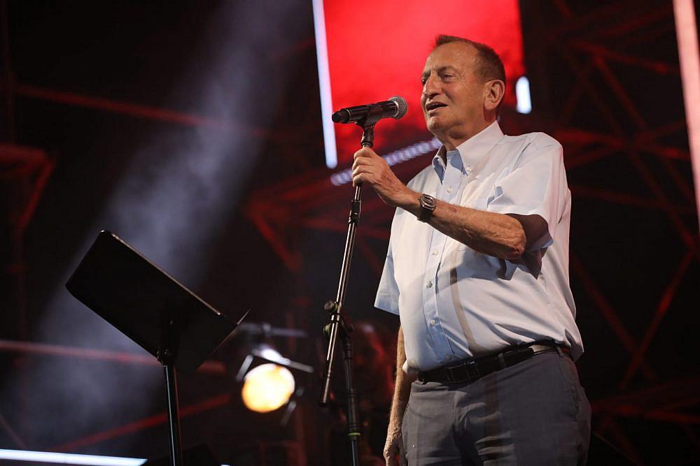 רון חולדאי בעצרת המוזיקה בתל אביב (צילום: ערן בארי)