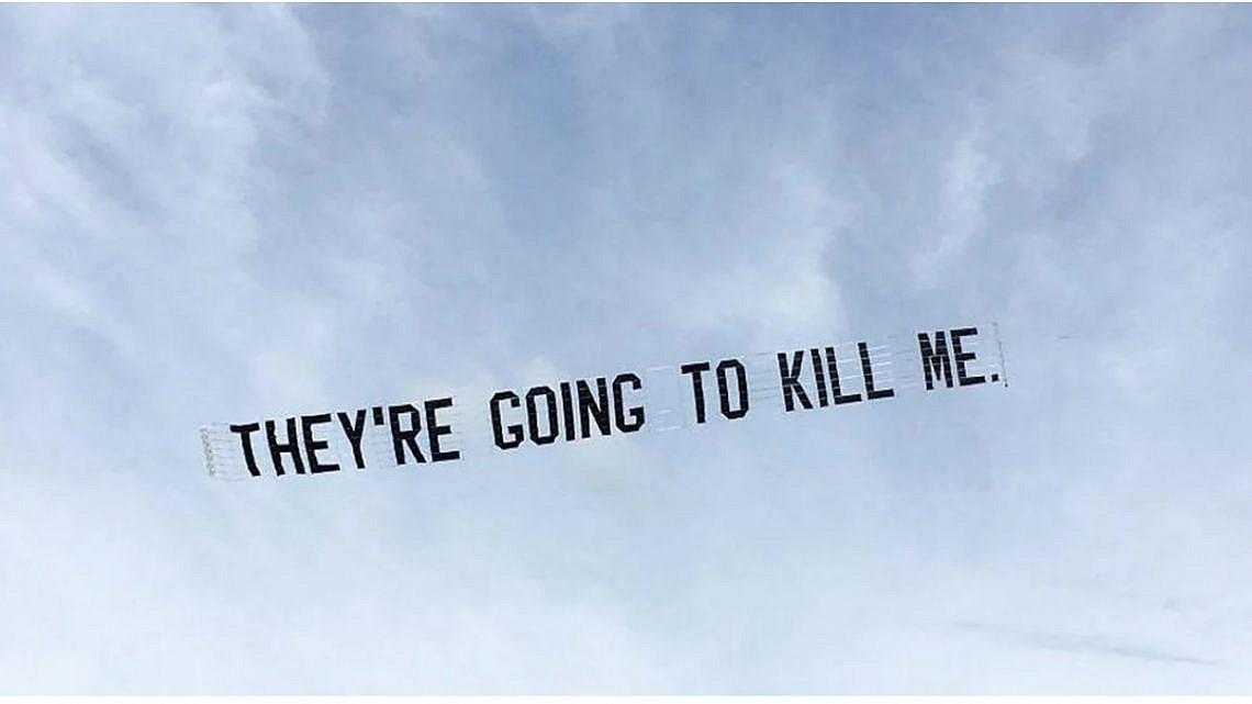 המחאה בעקבות הרצח של ג'ורג' פלויד (צילום מעמוד האינסטגרם של ג'יימי הולמס)