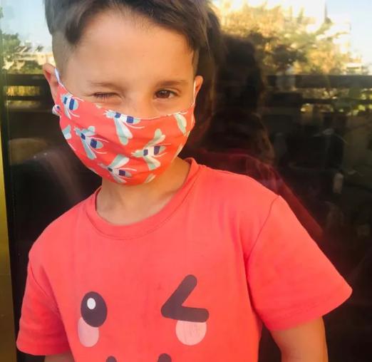 במידה מיוחדת לילדים (צילום מסך מתוך אתר Dana's Masks) לאתר Dana's Masks