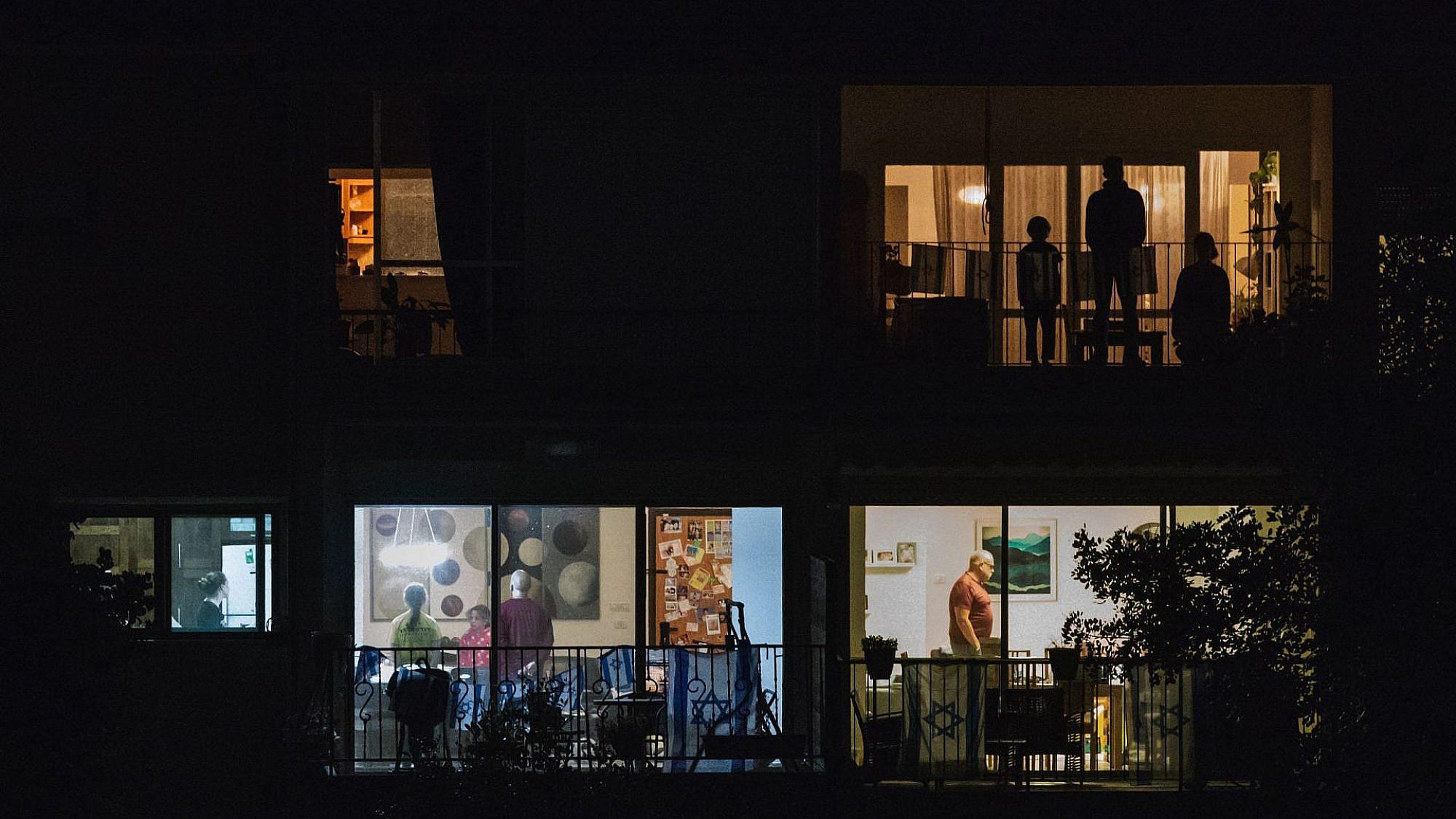 צפירת ערב יום הזיכרון 2020, צילום: עדי עופר, חיפה.
