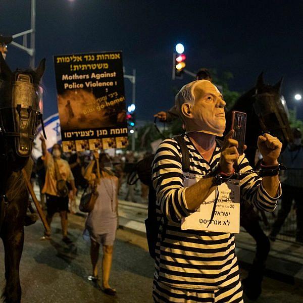 אלימות משטרתית בלתי נתפסת. ההפגנה נגד אמיר אוחנה, השבוע (צילום: אורן זיו)