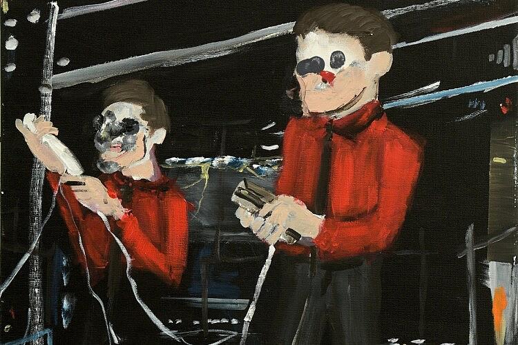 """Kraftwerk"", אקריליק על בד, 2016 (ציור: רותם רוזנבוים, באדיבות גלריה מאיה)"
