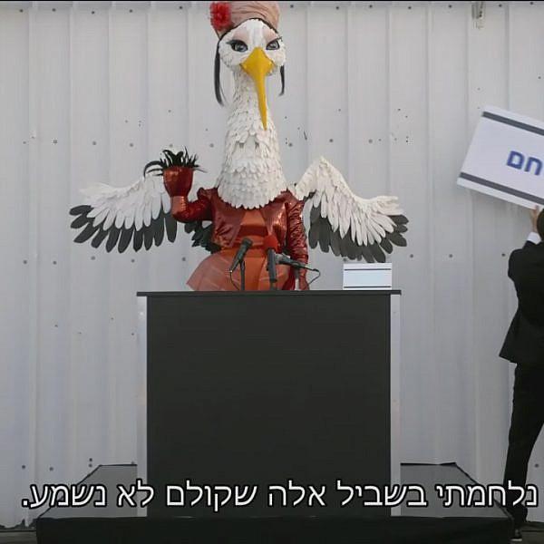 תגידי, את מדליקה משואה זו לתפארת מדינת ישראל? (צילום מסך: קשת 12)