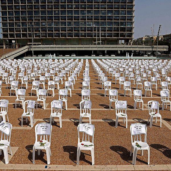 מיצב לזכר אלף ההרוגים הראשונים של מגפת הקורונה, ספטמבר 2020 (צילום: ג'ק גואז\גטי אימג'ס)