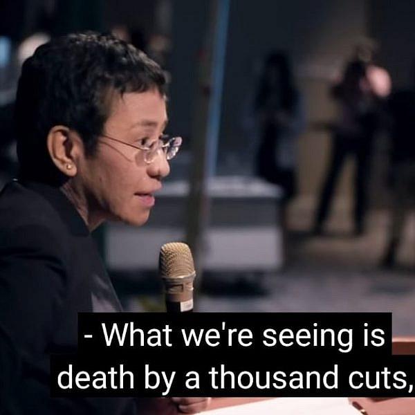 העיתונאית מריה רסה. מתוך הסרט.