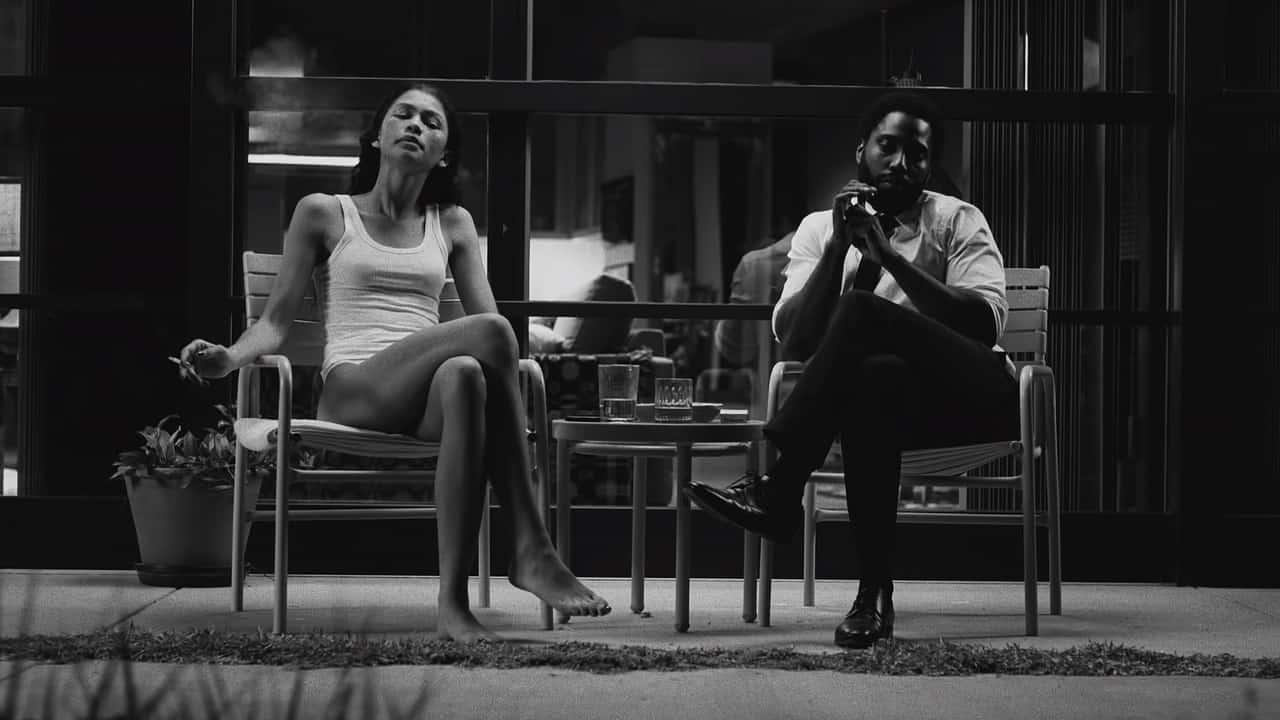 """דיאלוגים שהם מונולוגים ארוכים. דיוויד וושינגטון וזנדאיה ב""""מלקולם ומארי"""" (צילום: Netflix)"""