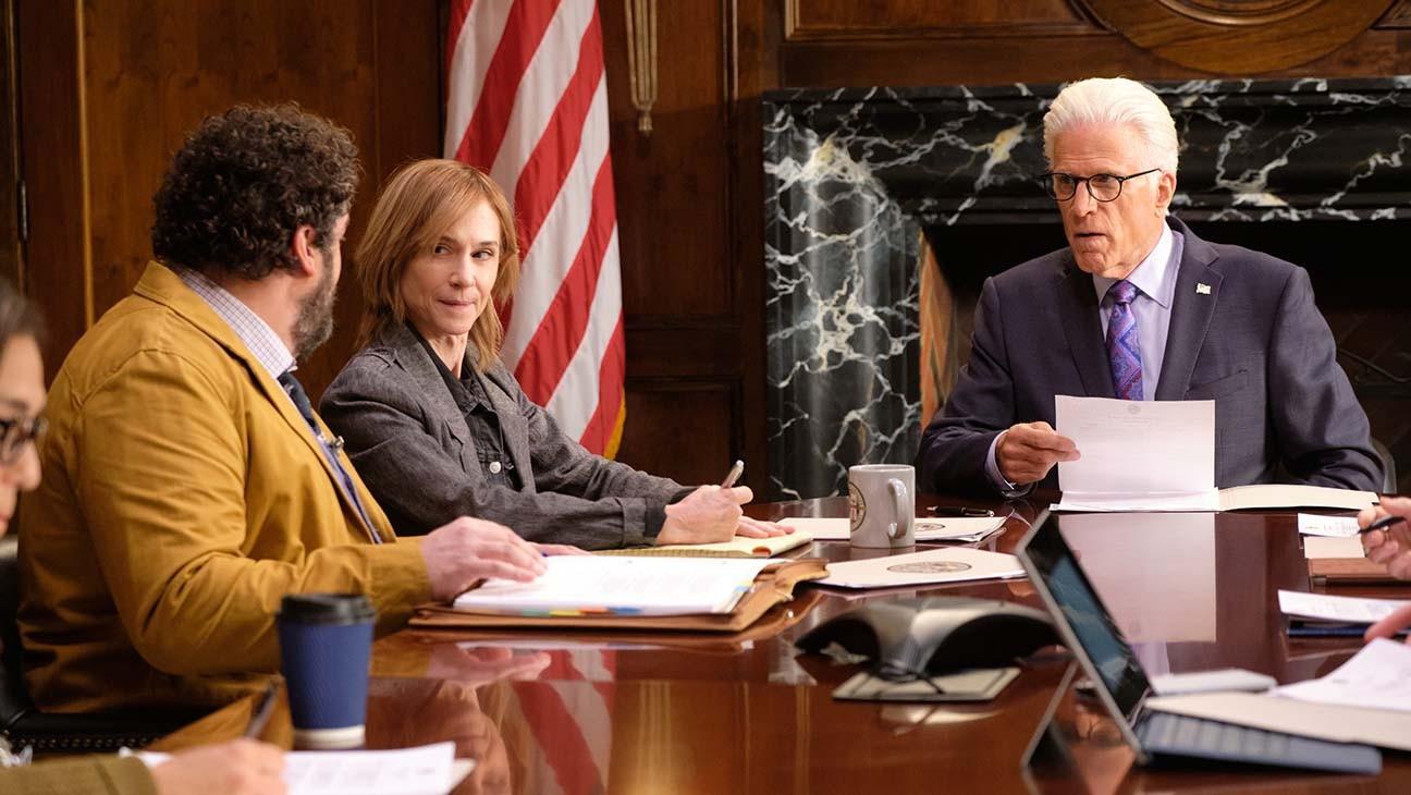 """הולי האנטר בסיטקום? הולי שיט! """"אדוני ראש העיר"""" (צילום: NBC)"""