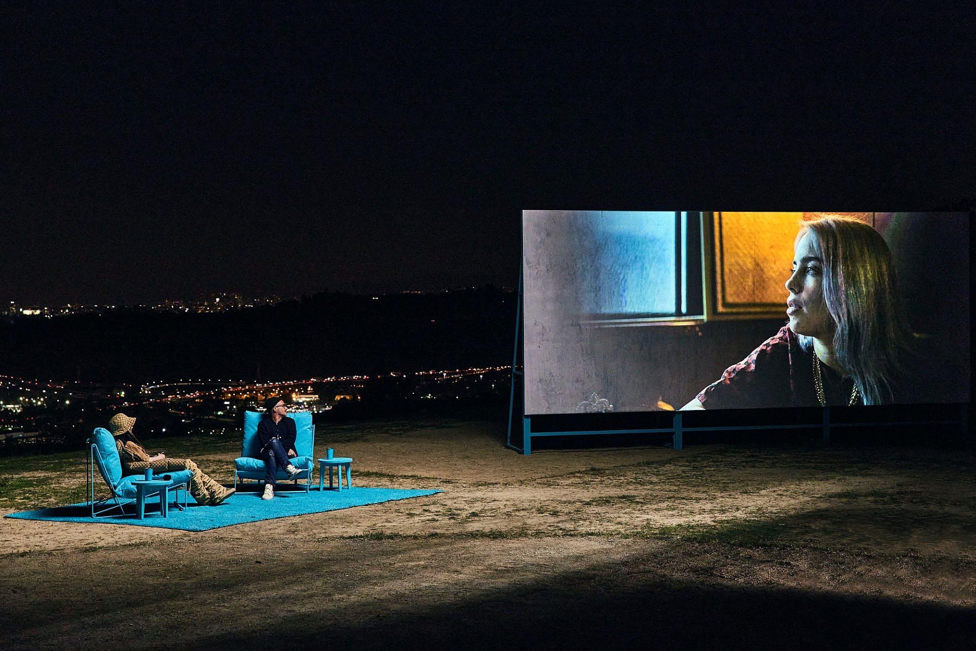 בילי אייליש וזיין לואו באירוע ההשקה של אפל+ (צילום: קורי אנג'לו\גטי אימג'ס)